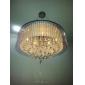 Hängande lampor ,  Modern Trumma Elektropläterad Särdrag for Kristall Metall Vardagsrum Sovrum Dining Room