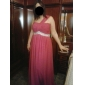 Formal Evening/Prom/Military Ball Dress - Blushing Pink Plus Sizes A-line/Princess One Shoulder Floor-length Chiffon