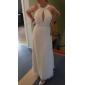 Sheath/Column Plus Sizes Wedding Dress - Ivory Floor-length Jewel Chiffon