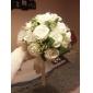 Elegant Round  Shape Satin  Wedding Bouquet