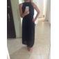 Vrouwen Chiffon plooide Maxi Dress