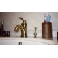 Antique Inspired Brass Bathroom Sink Faucet - Polished Brass Finish