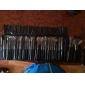 32pcs επαγγελματική τρίχα κατσίκας μαύρη λαβή μακιγιάζ βούρτσα με δωρεάν περίπτωση