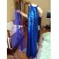 Vestito - Royal Blue Sera/Graduazione/Ballo Militare Tubino Decorato A Terra A paillette/Tulle Taglie grandi