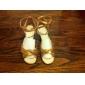 Chaussures de danse(Noir Rouge Or) -Non Personnalisables-Talon Aiguille-Satin-Latine Salon