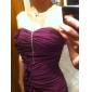 Formal Evening/Prom/Military Ball Dress - Grape Plus Sizes Sheath/Column Sweetheart/Strapless Floor-length Chiffon
