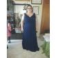 Bridesmaid Dress Floor-length Chiffon Sheath Column V-neck Dress With Criss Cross