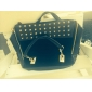 Women's Splicing Rivet Tote