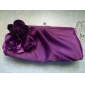 Satin Shell With Flower Evening Handbags/ Clutches More Colors Available