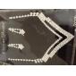 diamantes de imitación digna de collar y aretes