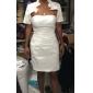 웨딩 드레스 - 아이보리(색상은 모니터에 따라 다를 수 있음) 시스/컬럼 숏/미니 튜브탑 사틴 플러스 사이즈