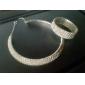 cinque strati tennis signore 'braccialetto strass in lega d'argento