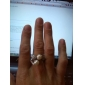 Gorgeous Cubic Zirconia 18K Gold Plate Pearl Fashion Ring
