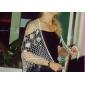 구슬 장식과 함께 아름다운 레이온 야간 / 웨딩 숄 (기타 색상)