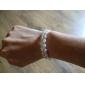 rhinestone signore 'Strand / bracciale tennis in bianco perla