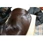 Capless Kort Brun vågig högkvalitativa syntetiska japanska Kanekalon peruker