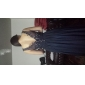 Formal Evening/Military Ball Dress - Silver Plus Sizes A-line/Princess V-neck Floor-length Chiffon/Tulle