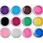 12PCS MiXs Pure Color UV Color Gel för manikyr Tippar (8 ml)