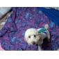 blå stribet bomulds skjorte og slips til hunde (XS-M, hvid)