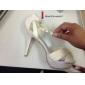 Bridal Satin Stiletto Heel Sandaler med veck och spänne bröllop / speciella skor tillfällen (Fler färger)
