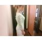 웨딩 드레스 - 아이보리(색상은 모니터에 따라 다를 수 있음) 시스/컬럼 숏/미니 사각형 레이스