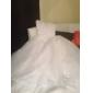 Haine Bal In Formă de Inimă Trenă Capelă Organza Rochie de mireasă cu Mărgele Aplică Cruce de LAN TING BRIDE®
