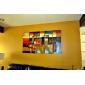 HANDMÅLAD Abstrakt Horisontell,Klassisk Moderna Fem paneler Kanvas Hang målad oljemålning For Hem-dekoration
