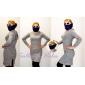 Femei mânecă lungă Hooded Bodycon Dress