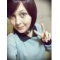 Sans bonnet court bruns ondulés synthétique de haute qualité japonais Kanekalon perruques