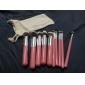 10 PC professionnels pinceaux de maquillage Set de brosses de maquillage Kit de maquillage String Draw Sac libre
