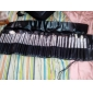 Set di 40 pennelli professionali per il makeup, marsupio nero compreso