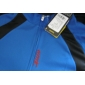 Santic Men's Cycling Jersey Long Sleeve Breathable+Quick-Drying Blue Polyester+Mesh Cycling Jacket For Men C01012B
