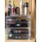 Rangement pour Maquillage Boîte de maquillage Rangement pour Maquillage Plastique Acrylique Couleur Pleine 17x10x6.5 Transparents