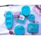 Söt rosett 3D Silicone Mould kaka Utsmyckning Bakning Tool