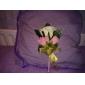 Flori de Nuntă Formă liberă Bujori Butoniere Nuntă Petrecere / Seară Satin Bumbac Roz