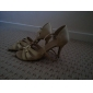 Chaussures de danse (Rose/Or) - Personnalisable - Talons personnalisés - Satin - Danse latine/Salle de bal