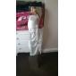 Empire en skulder gulvlang chiffon elastisk satin brudepige / bryllupsfest kjole