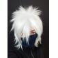 Perruques de Cosplay Naruto Hatake Kakashi Blanc Court Anime Perruques de Cosplay 35 CM Fibre résistante à la chaleur Masculin