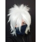 Cosplay Peruker Naruto Hatake Kakashi Vit Kort Animé Cosplay Peruker 35 CM Värmebeständigt Fiber Man