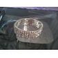 Five Layers Ladies' Rhinestone Tennis Bracelet In Silver Alloy