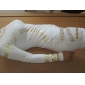 MingFan femei gât Celebrity Kim Egipt aur folie de Print maneca lunga Bodycon Dress