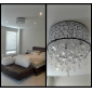 Flush Mount ,  Modern/Contemporary Drum Electroplated Feature for Crystal Metal Living Room Bedroom