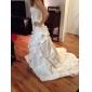 웨딩 드레스 - 아이보리(색상은 모니터에 따라 다를 수 있음) 볼 가운 채플 트레인 튜브탑 사틴/레이스 플러스 사이즈