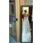 Strak/kolom Halter Hofsleep Chiffon Trouwjurk met Appliqués door LAN TING BRIDE®