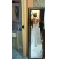 lanting bruid schede / column petite / grote maten trouwjurk-rechter trein halster chiffon