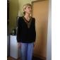 pentru femei v gât decor cupru bluza cu maneca lunga