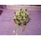 ivoor satijnen roos bruidsboeket
