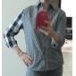 Asimétrica de las mujeres del color del encanto Plaids Shirts