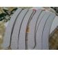 10PCS Arc-forme Émeri Limes à ongles (couleurs assorties)