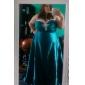 Fiesta formal/Fiesta de baile/Baile Militar Vestido - Azul Real Corte A/Corte Princesa Hasta el Suelo - Escote Corazón/StraplessSatén